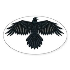 Beadwork Crow or Raven Decal