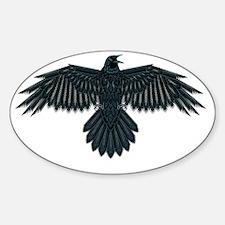 Beadwork Crow or Raven Sticker (Oval)