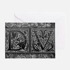 DV initials. Vintage, Floral Greeting Card