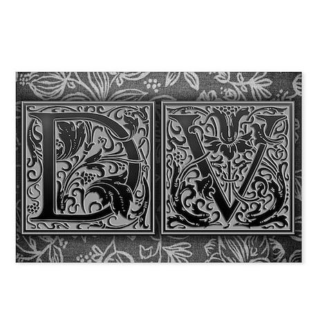 DV initials. Vintage, Flo Postcards (Package of 8)