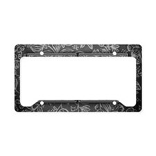 GA initials. Vintage, Floral License Plate Holder
