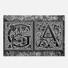 GA initials. Vintage, Flo Postcards (Package of 8)