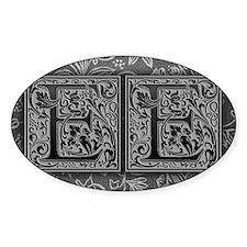 EE initials. Vintage, Floral Decal