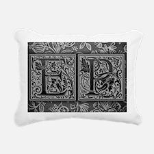 EP initials. Vintage, Fl Rectangular Canvas Pillow