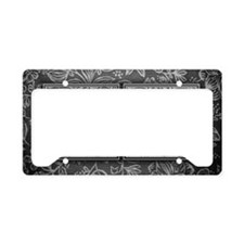 GN initials. Vintage, Floral License Plate Holder