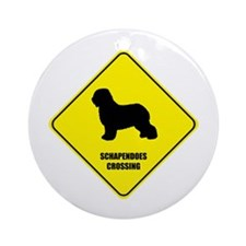 Schapendoes Crossing Ornament (Round)
