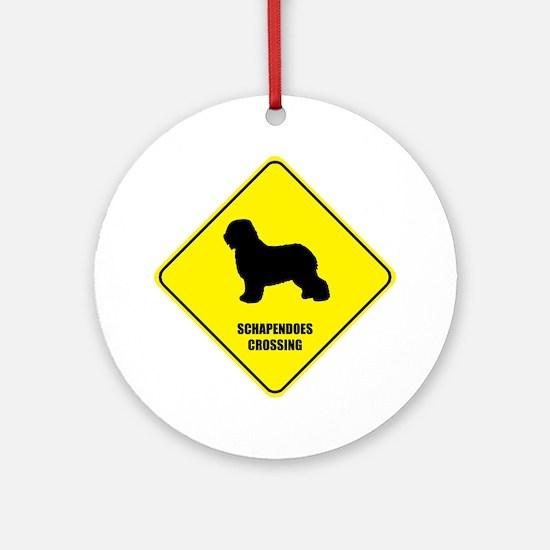 Schapendoes Crossing Ornament (Round)