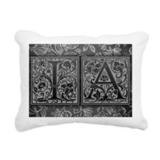 IA initials. Vintage, Fl Rectangular Canvas Pillow