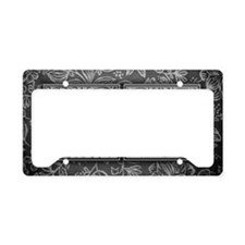 IN initials. Vintage, Floral License Plate Holder