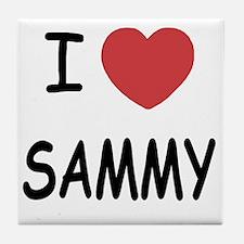I heart SAMMY Tile Coaster