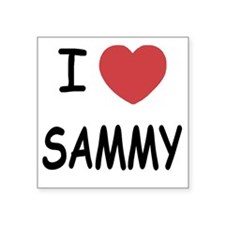 "I heart SAMMY Square Sticker 3"" x 3"""