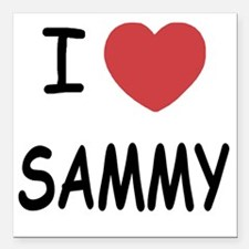"I heart SAMMY Square Car Magnet 3"" x 3"""