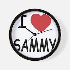 I heart SAMMY Wall Clock