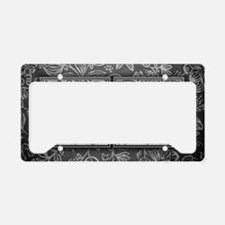 JV initials. Vintage, Floral License Plate Holder