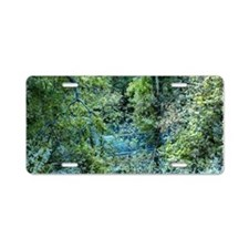 Forest Hidden Road Aluminum License Plate