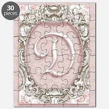 Vintage Rococo Monogram D Puzzle