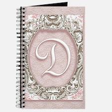 Vintage Rococo Monogram D Journal