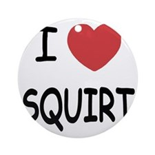 I heart SQUIRT Round Ornament