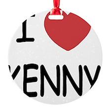 I heart KENNY Ornament