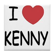 I heart KENNY Tile Coaster