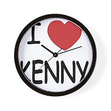 I heart KENNY Wall Clock