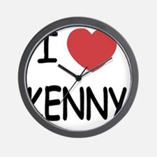 I heart KENNY Wall Clock