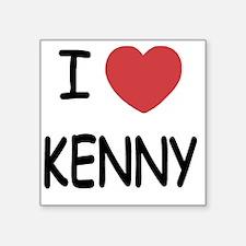 "I heart KENNY Square Sticker 3"" x 3"""