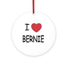 I heart BERNIE Round Ornament