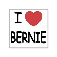 "I heart BERNIE Square Sticker 3"" x 3"""