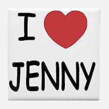 I heart JENNY Tile Coaster