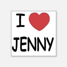 "I heart JENNY Square Sticker 3"" x 3"""