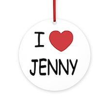 I heart JENNY Round Ornament