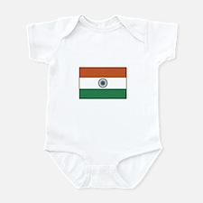 India Flag Infant Bodysuit