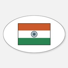 India Flag Oval Decal