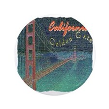 "california golden gate pencil effect 3.5"" Button"