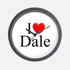 """I Love (Heart) Dale"" Wall Clock"