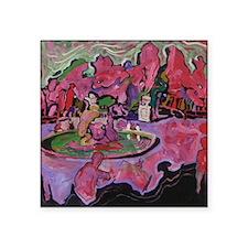"Schonbrun Fountain Square Sticker 3"" x 3"""