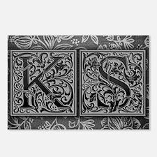 KS initials. Vintage, Flo Postcards (Package of 8)