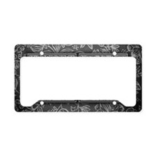 LE initials. Vintage, Floral License Plate Holder