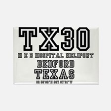 TEXAS - AIRPORT CODES - TX30 - H  Rectangle Magnet