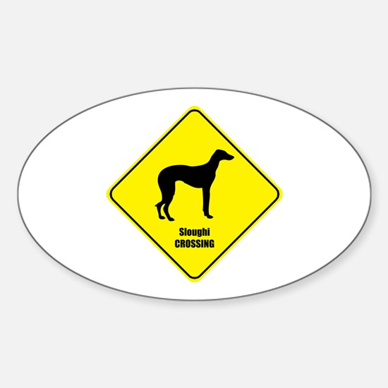 Sloughi Crossing Oval Decal