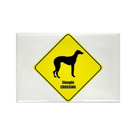 Sloughi Crossing Rectangle Magnet (10 pack)