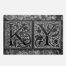KY initials. Vintage, Flo Postcards (Package of 8)