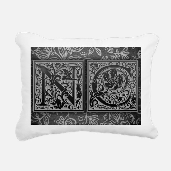 NC initials. Vintage, Fl Rectangular Canvas Pillow