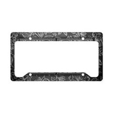 OM initials. Vintage, Floral License Plate Holder