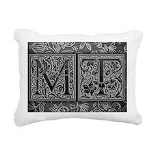 MT initials. Vintage, Fl Rectangular Canvas Pillow