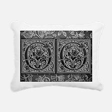 OO initials. Vintage, Fl Rectangular Canvas Pillow