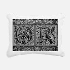 OR initials. Vintage, Fl Rectangular Canvas Pillow