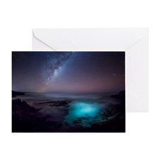 Milky Way over Southern Ocean Greeting Card