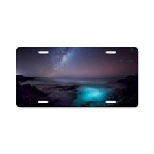 Milky Way over Southern Oce Aluminum License Plate